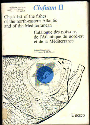 Check-list of the fishes of the north-western Atlantic and of the Mediterranean